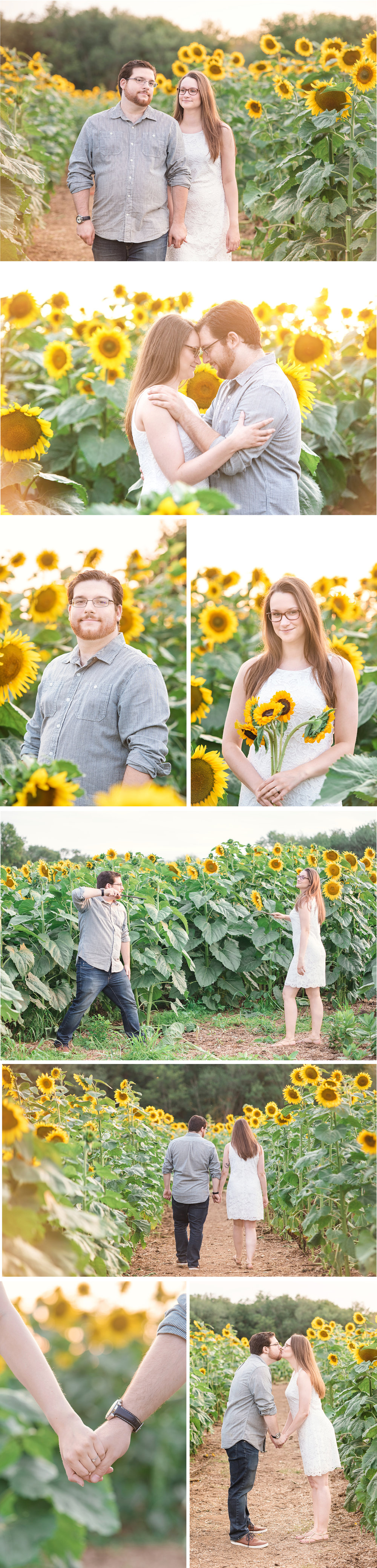CT Sunflower Engagement Session