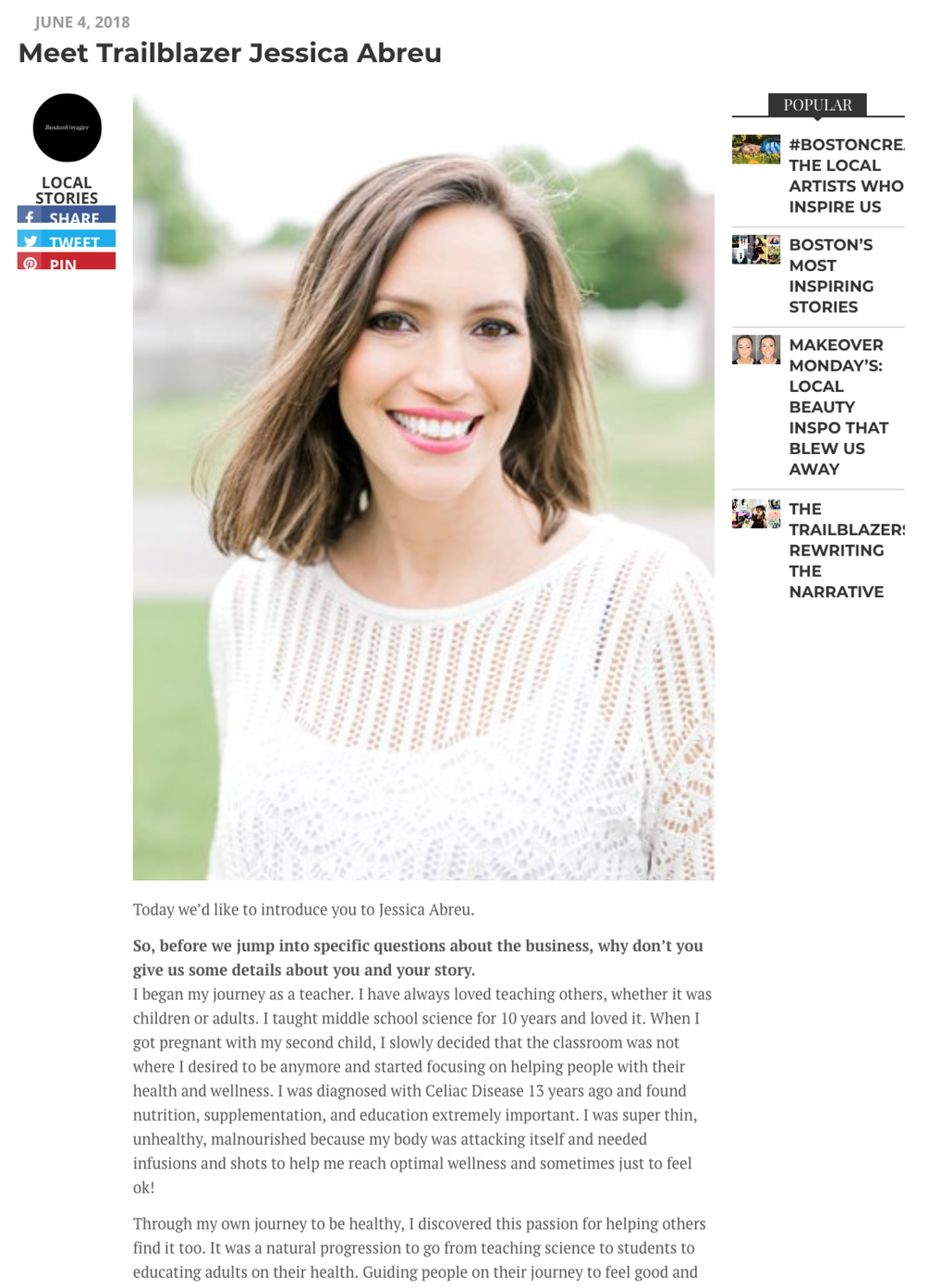 Boston Voyager Magazine feature Makeup Artist
