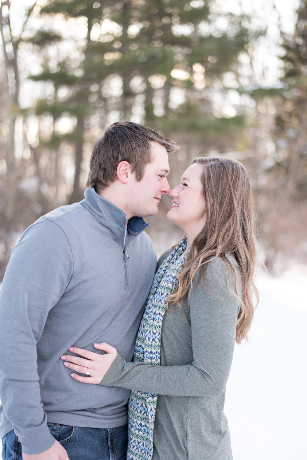 Massachusetts winter engagement session