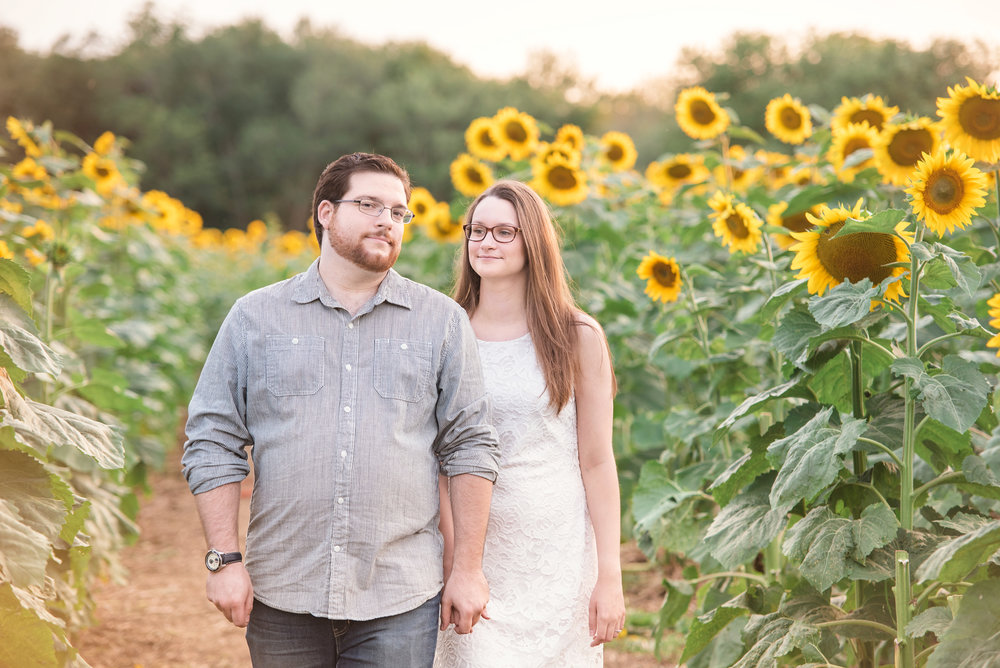 Buttonwood Farm Sunflower Engagement Griswold CT.jpg