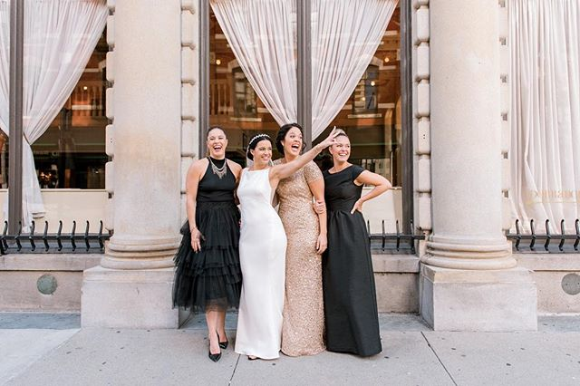 Girl squad goals! How gorgeous are these sisters having a blast at @thedorrance in Providence! #thedorrance #providencewedding #providenceri