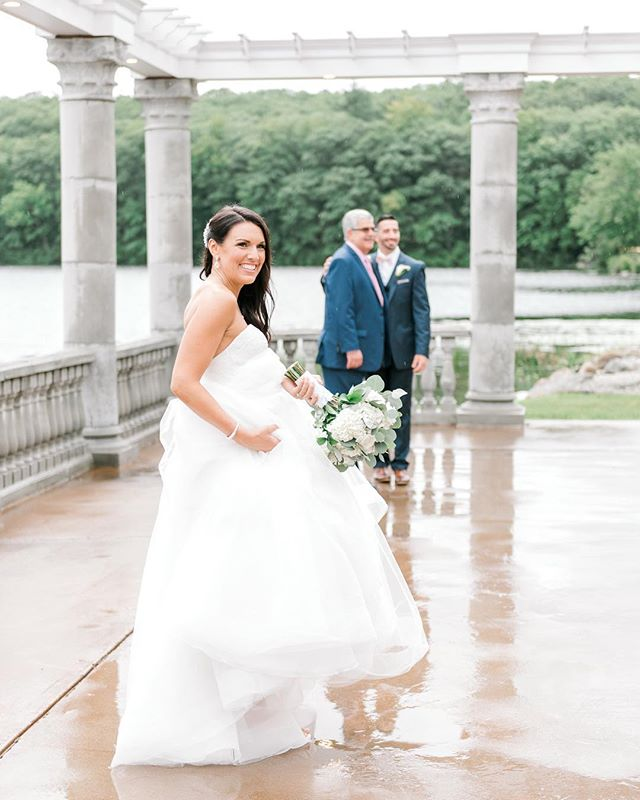 Life is about learning to dance in the rain! Rain on your wedding day? No worries! I'll be there with you running out during breaks in the rain for those family photos or couples portraits, or splashing through the puddles and holding umbrellas for you as we find some great spots undercover from the rain! Never fear, we got you covered! ☔️ Preparing for a day of second shooting in the rain tomorrow, with this shot from second shooting with Katie Hall this past summer! #grandviewmendon #massachusettswedding #mawedding