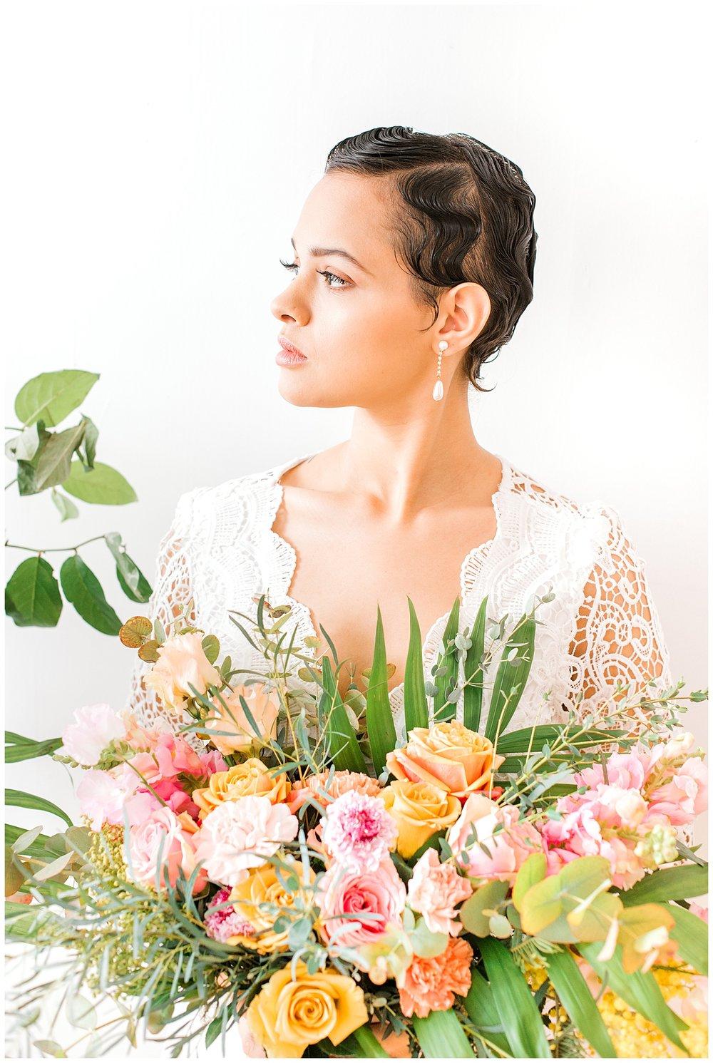 Newport Rhode Island wedding photographer pantone coral florals
