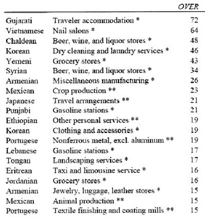 Gujarati hotels and Chaldean liquor stores — Development