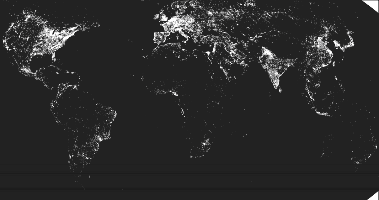 Cool maps measuring growth from outer space development adam storeygard and david n weil came up with an interesting proxy for gdp growth the amount of light that can be seen from outer space gumiabroncs Choice Image
