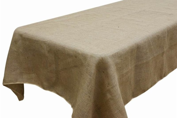 Burlap rectangle table cloth hire