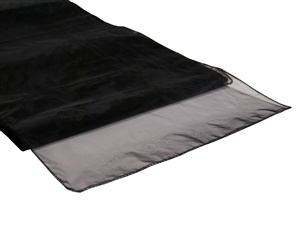 Black Organza Table Runner Hire