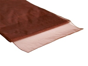 Chocolate Organza Table Runner Hire