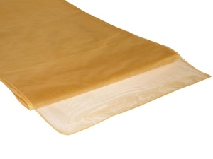 Gold Organza Table Runner Hire