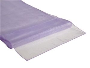 Lilac Organza Table Runner Hire