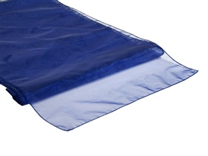 Navy Organza Table Runner Hire