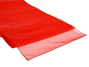 Red Organza Table Runner Hire