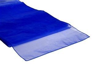 Royal Blue Organza Table Runner Hire