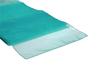 Turquoise Organza Table Runner Hire