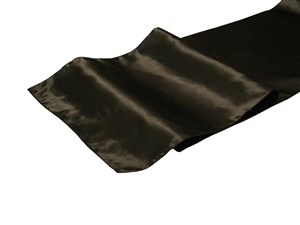Black Satin Table Runner Hire