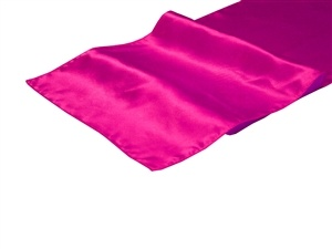 Fuchsia Satin Table Runner Hire
