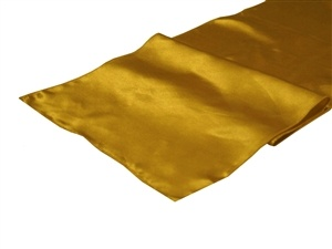 Gold Satin Table Runner Hire