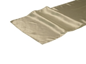 Ivory Satin Table Runner Hire