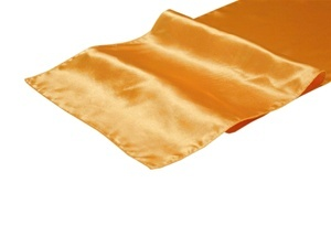 Peach Satin Table Runner Hire