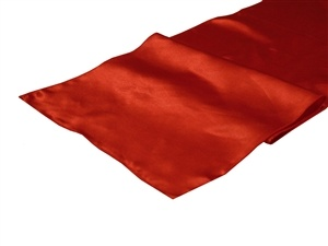Red Satin Table Runner Hire