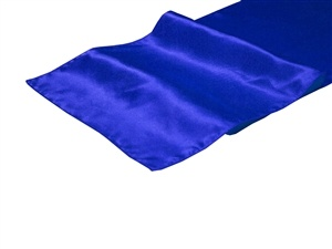 Royal Blue Satin Table Runner Hire