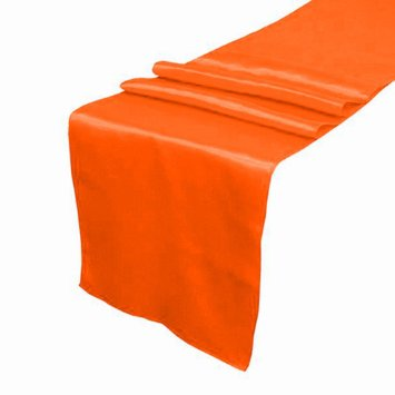Tangerine Satin Table Runner Hire