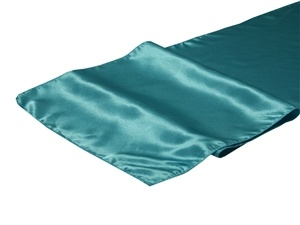 Turquoise Satin Table Runner Hire