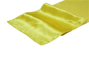 Yellow Satin Table Runner Hire