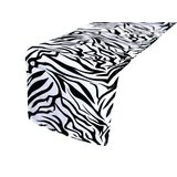 Zebra Table Runner Hire