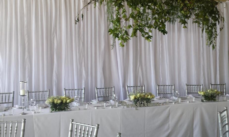 Bridal Table Backdrop HIre