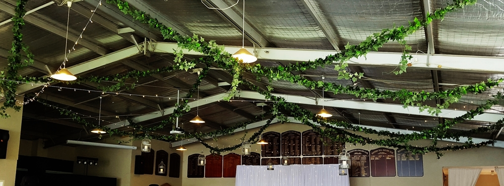 HHSC Ivy ceiling with birdcages and fairylights 1.jpg