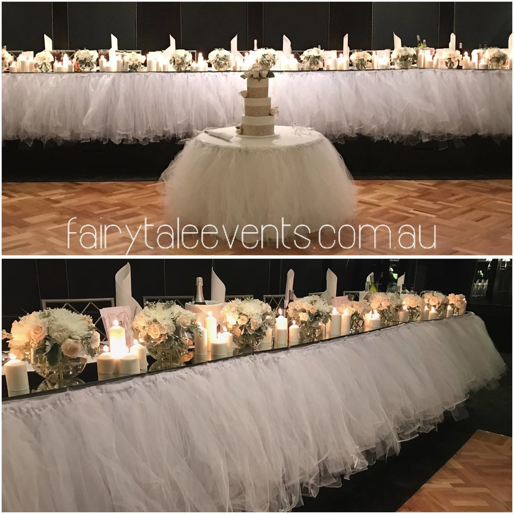 Tulle Skirt for bridal or cake table not available DIY