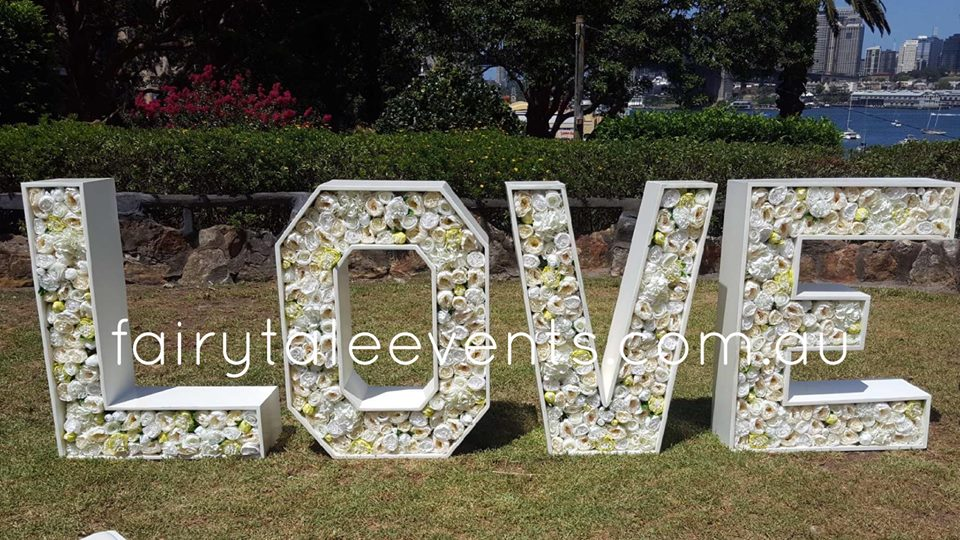 Giant LOVE sign hire POA