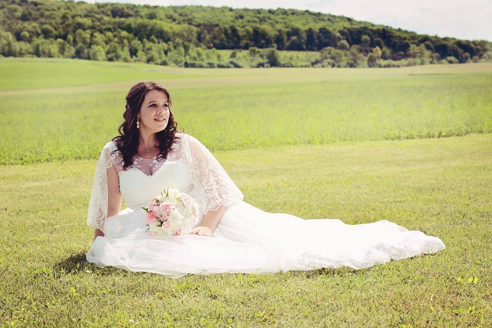 For Desiree Marie we rebuilt her wedding dress to a point that we can call it a Gee June dress!