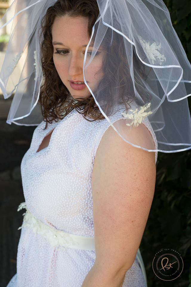 Model: Jess Tinker. Jess came back to model the LWD she wore in her engagement pictures at 'The Artful Bride' and this time we paired it with a veil!