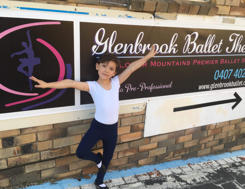 """Daniel - age 7 - Daniel came along to one of the Ballet Without Borders workshops and had danced a little at Glenbrook. He is a joy to watch with talent and energy.'Thank you for giving him this opportunity""""-Daniel's mum"""