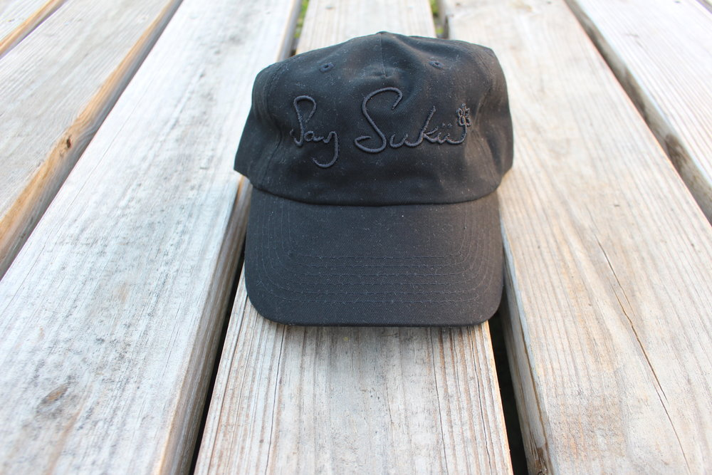 $35  LOGO HAT - BLACK/BLACK    PURCHASE NOW
