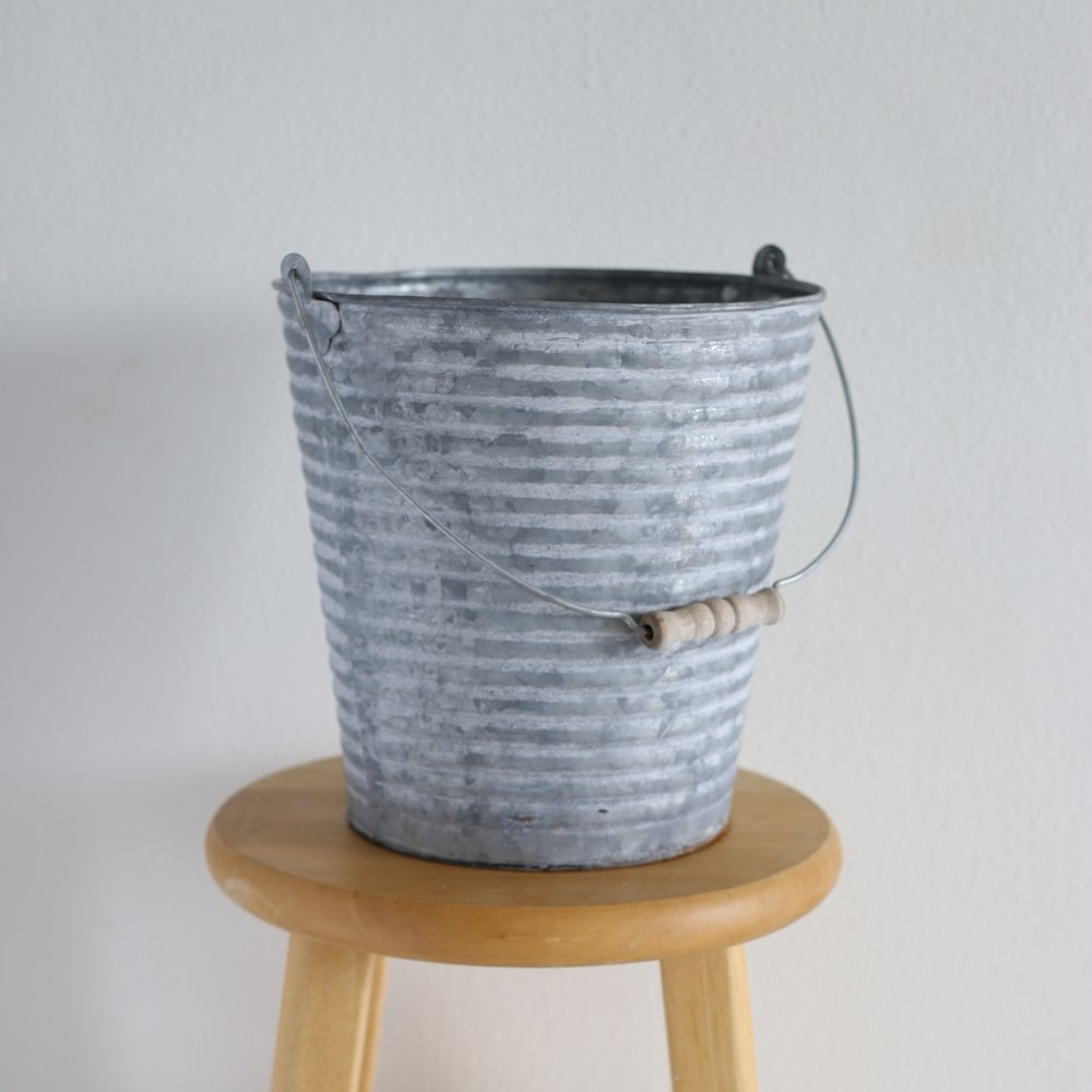 "galvanized bucket - 10"" x 10"""