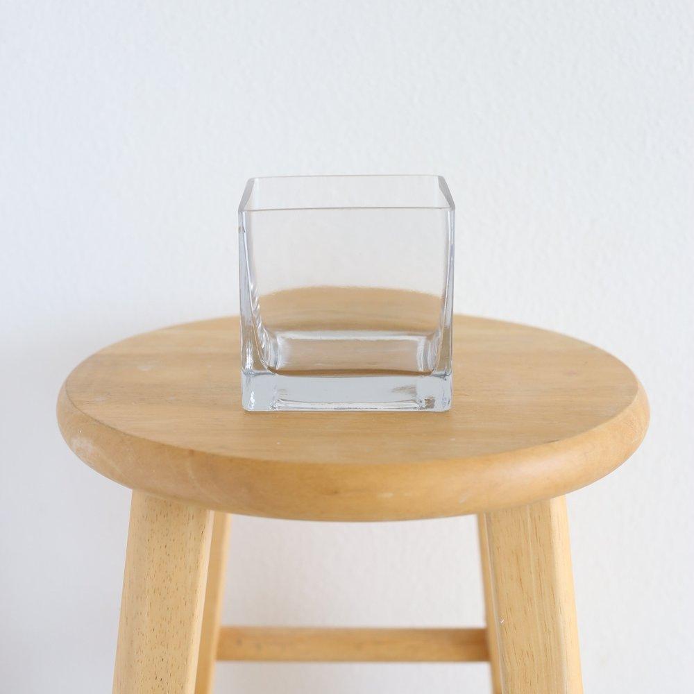 "cube vase - 4"" x 4"""