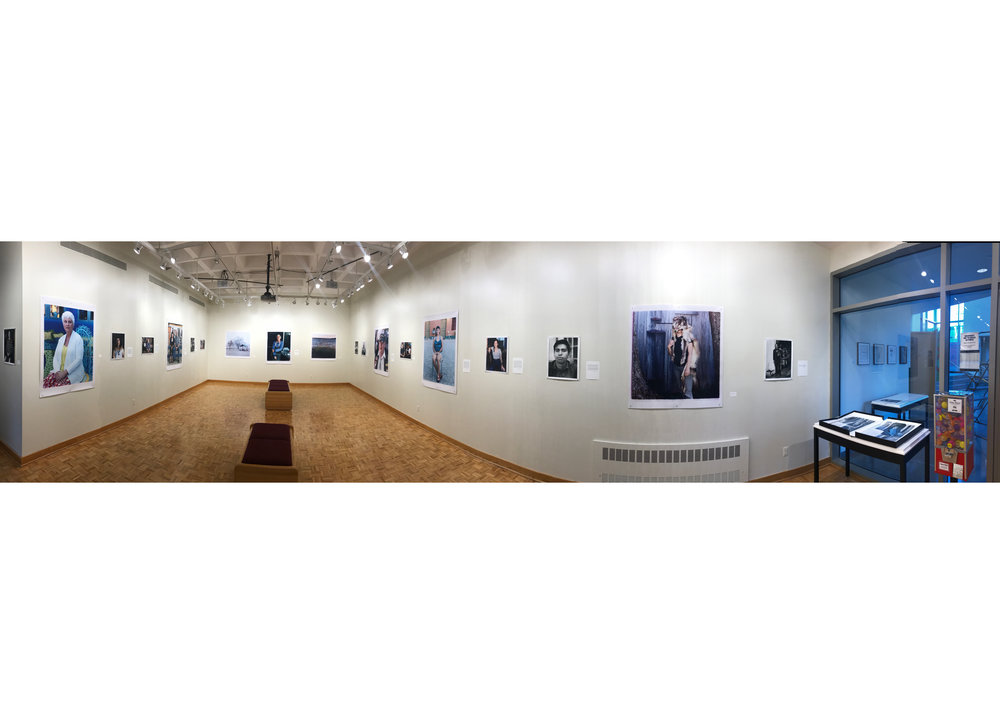 Panorama of exhibition at Mercer Gallery