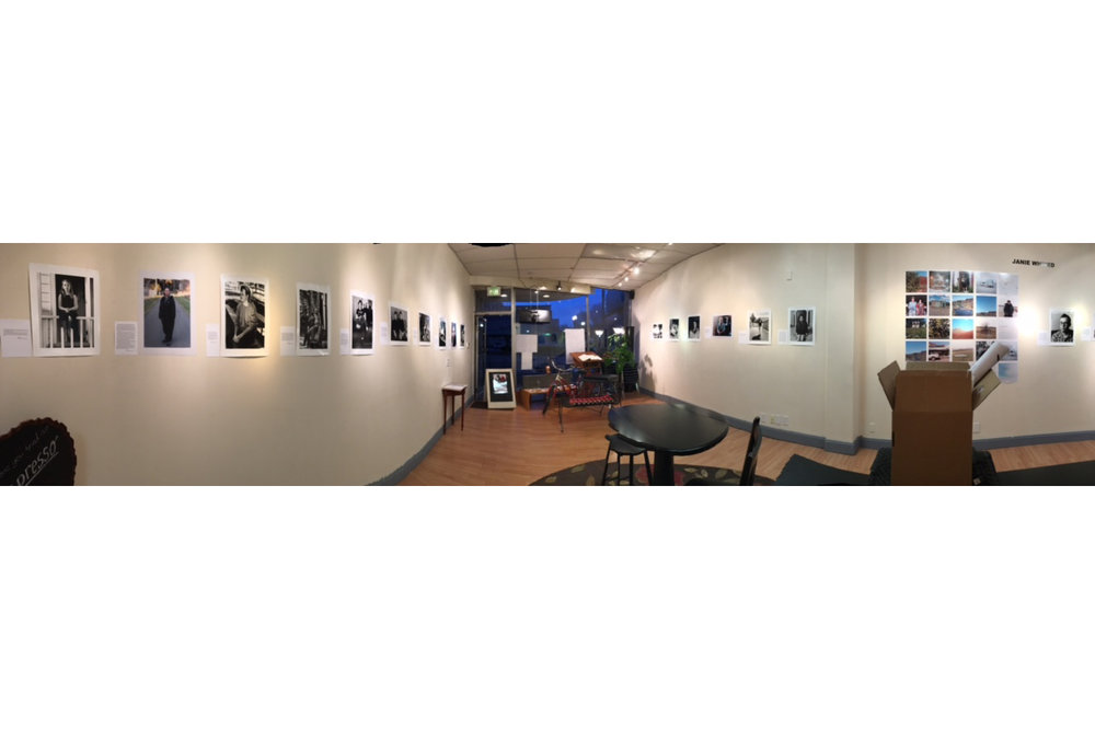 Panorama of exhibition at Black Lab Gallery