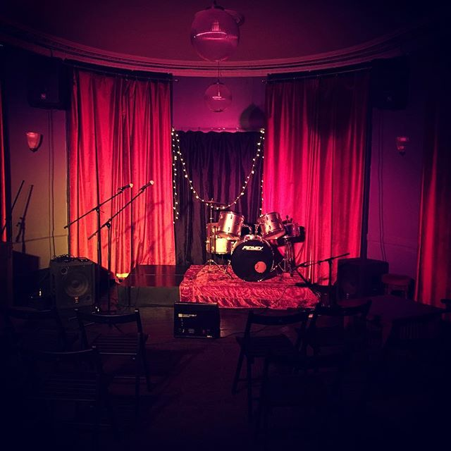 All set up for tonights gig upstairs
