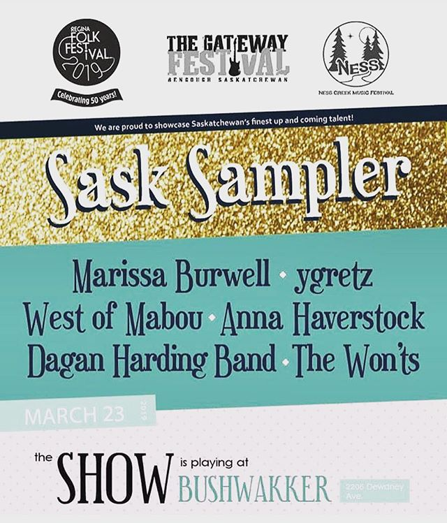 Really excited to be on this bill March 23rd! Very pumped to see the rest of the performers as well. We'll have T-shirts, CDs and cassettes for sale! Come grab one! #daganhardingband #ArtisticThievery #ILearnedHowEP #saskartsboard #creativesask #saskmusic #yqrarts #yqr #Indie #rock #sasksampler #yqrfolkfest #postrock #dadrock #indiepop #rock #classicband #artistsoninstagram #cassettetapes #cbc #cbcsask #yeahbyusher @nesscreekmusicfestival @gatewayfestival @reginafolkfest