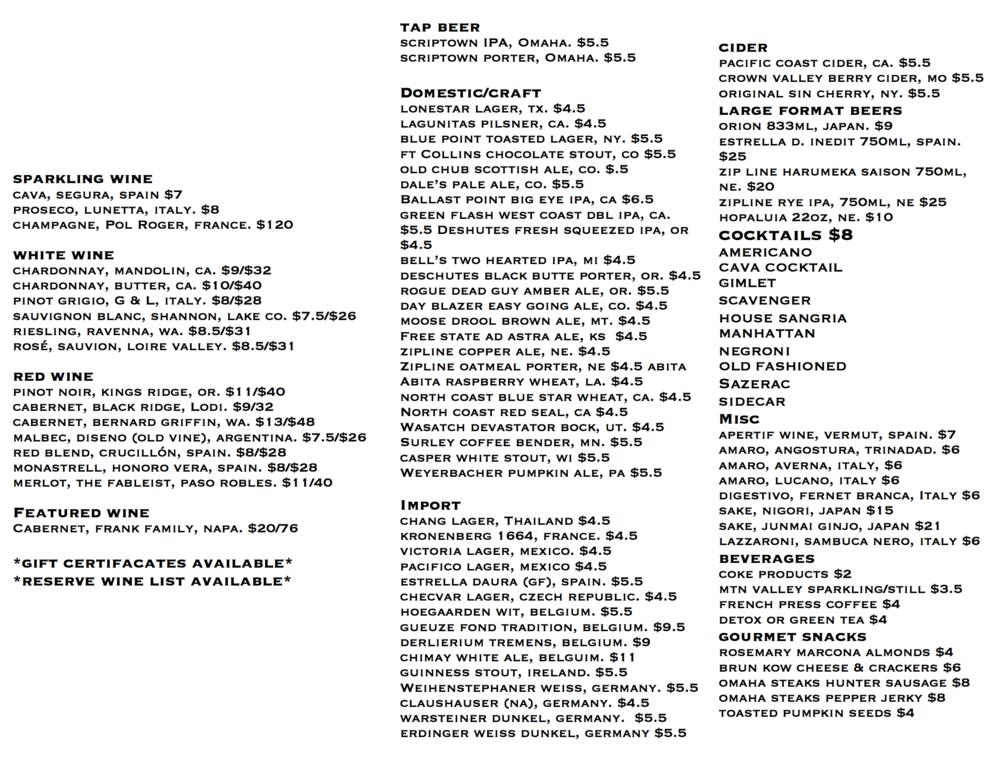 menu FEB 2017