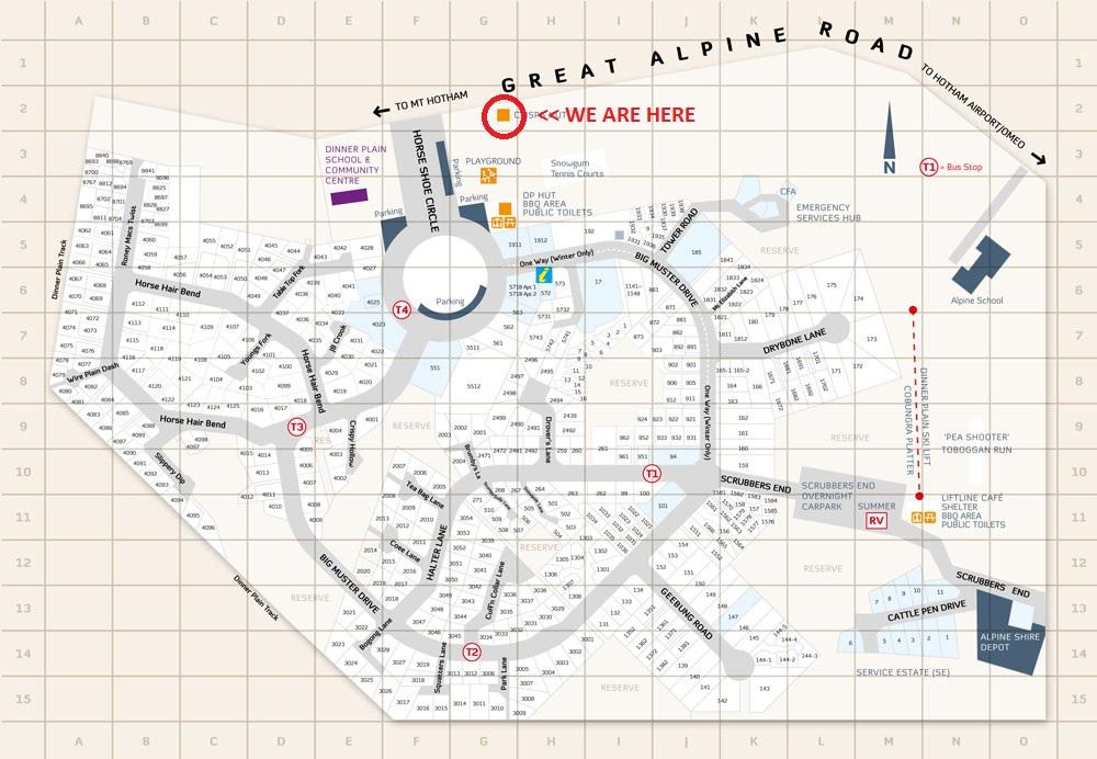 DINNER PLAIN MAP