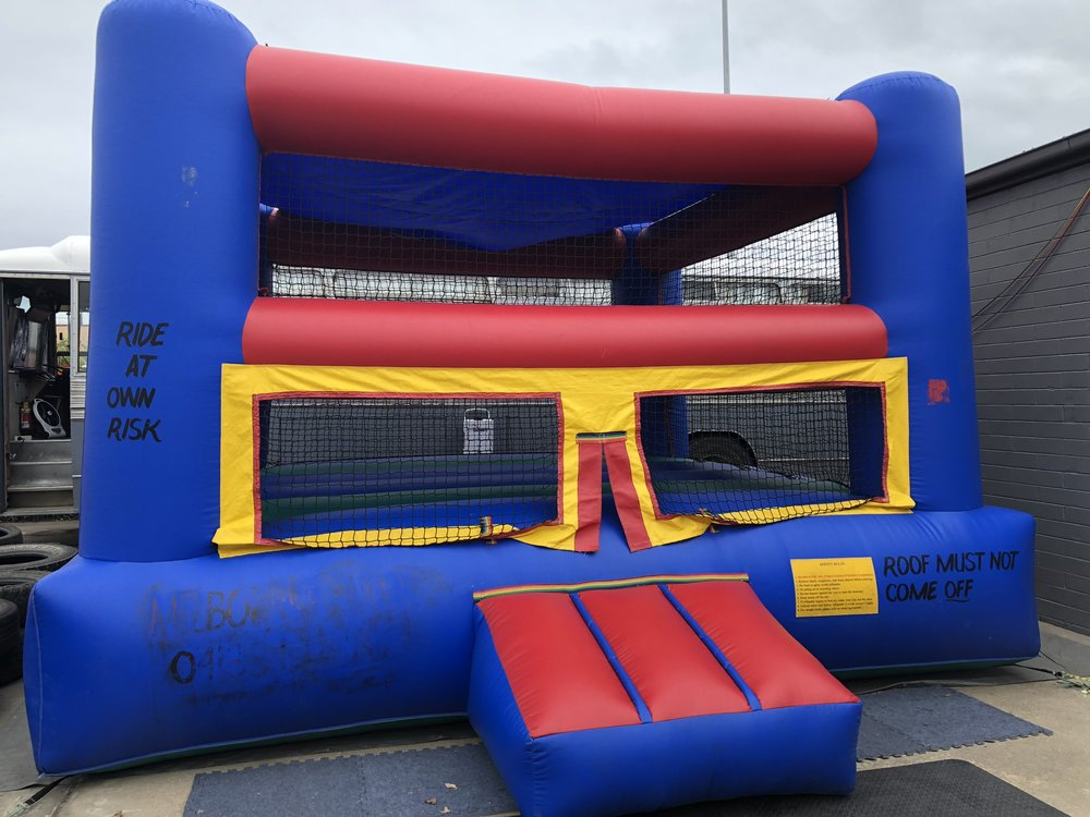 Boxing Ring - This can be hired with oversized boxing gloves and head protection for a rumbling good time, or it can be used as a large open sided jumping castle.Boxing ring can be hired out as a jumping castle or as a boxing ring with boxing gear.Boxing ring can be hired for self use at your event or with an operator.