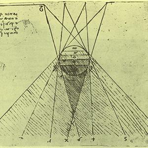 ÓPTICA Como o olho humano funciona? Como enxergar as estrelas no céu? Descubra como Da Vinci foi pioneiro em formular teorias e objetos para ampliar nossa percepção de mundo.