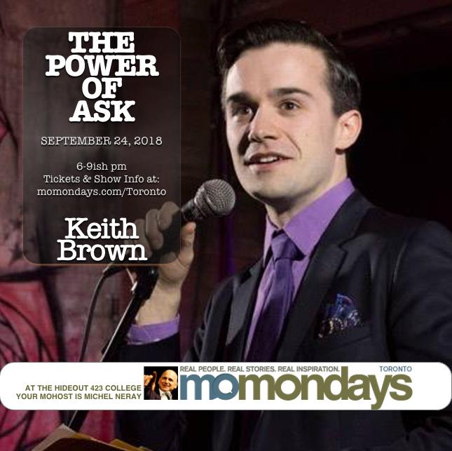 Keith Brown at Momondays Toronto