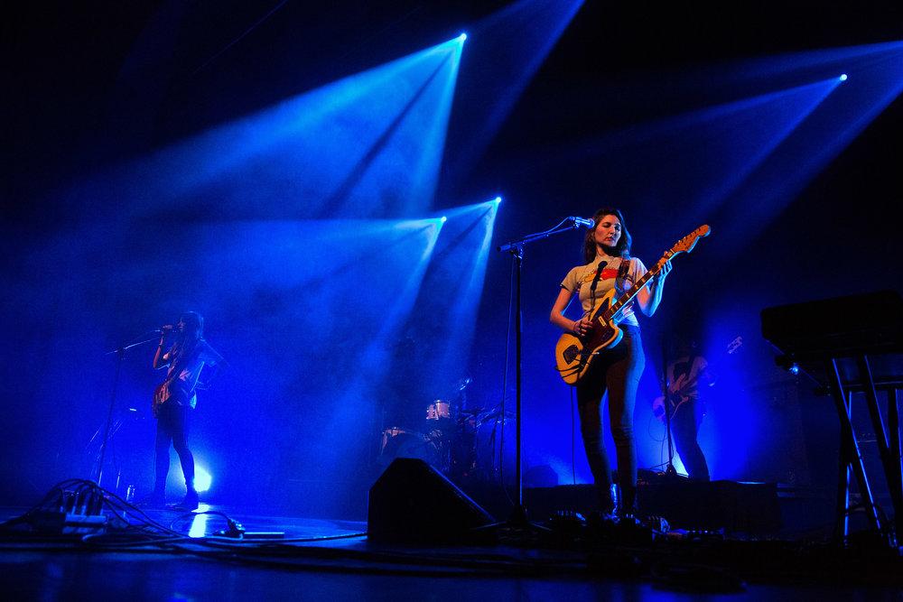 Warpaint at Danforth Music Hall - Toronto, ON (from left: Theresa Wayman, Emily Kokal; back: Jenny Lee Lindberg)