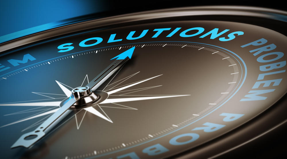 Compass pointing to Solutions